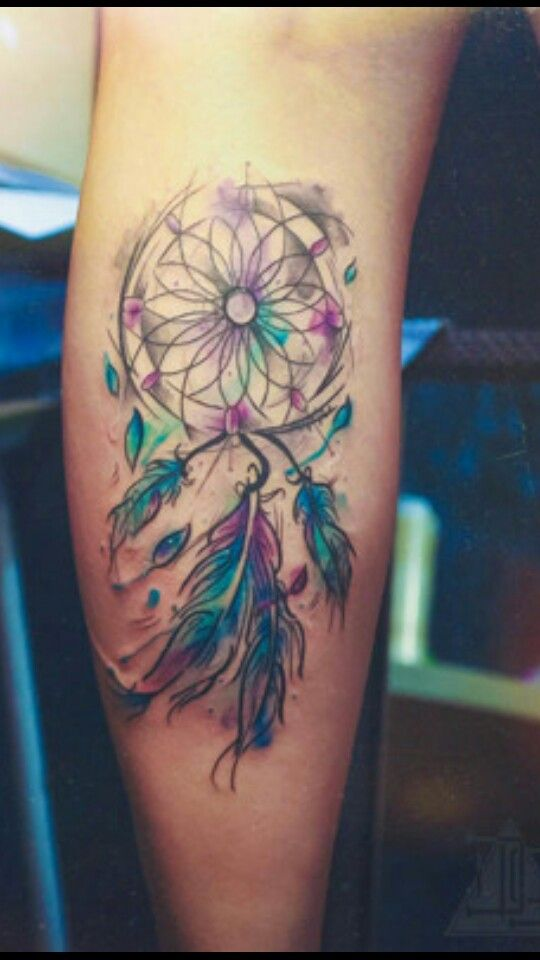 Cute and simple watercolor dreamcatcher
