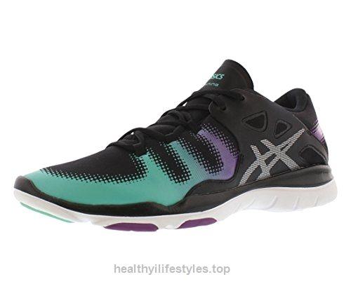 Calzado Fitness Fit Vida Fitness para mujer, Negro / Plateado / Aqua Mint, 11.5 M US