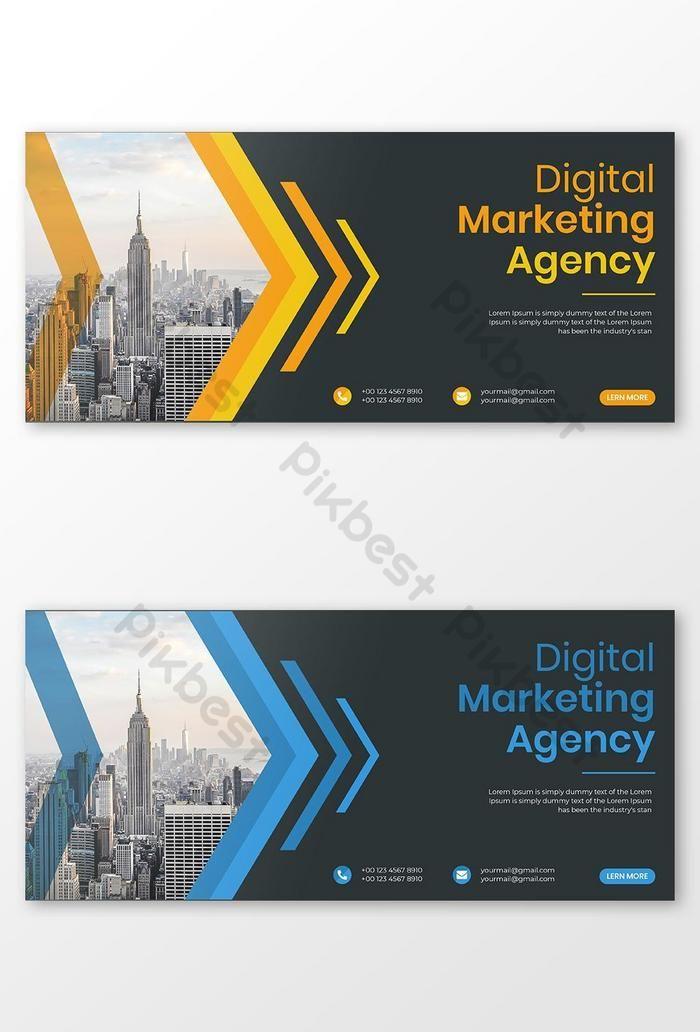 قالب ناقلات تصميم غلاف فيسبوك للأعمال التجارية للشركات Ai تحميل مجاني Pikbest Digital Marketing Agency Digital Marketing Marketing Agency