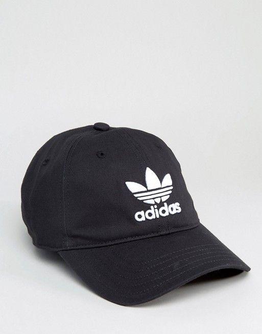fb7a9ade adidas Originals Logo Cap In Black | Clothing | Adidas cap, Adidas ...