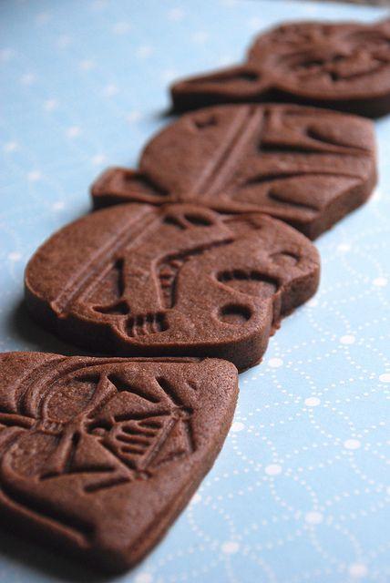 star wars brownie roll out cookies  http://prin.tt/xZRurc
