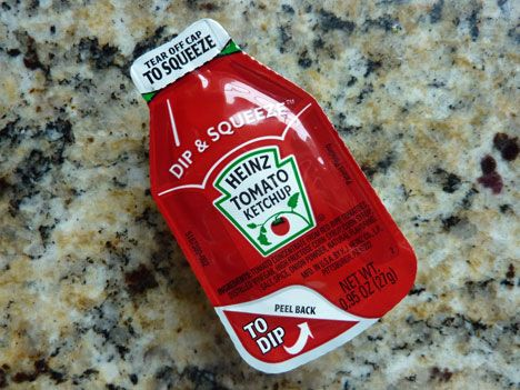 Individual sauce portions are reimagined and their utility increased twofold in Heinz's latest upgrade.