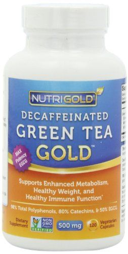 #1 Green Tea Extract - Green Tea GOLD, 500 mg, 120 Vegetarian Capsules - Decaffeinated Green Tea Fat Burner Supplement... $13.95