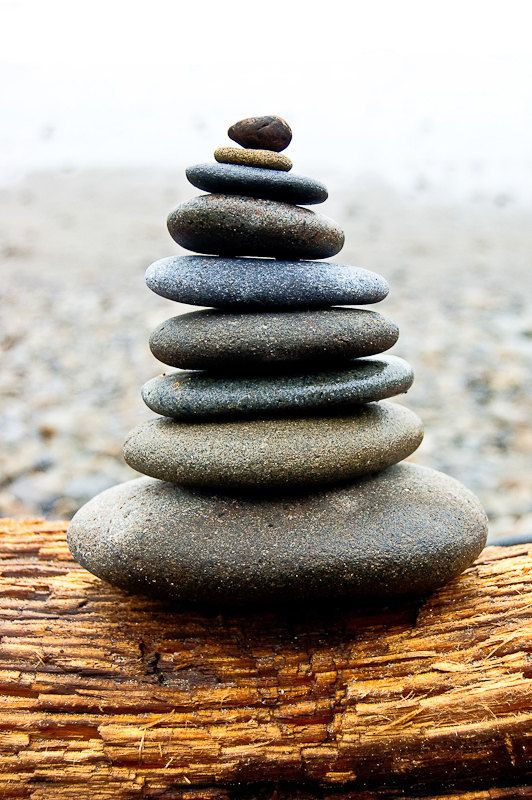 in balance cairnes stacked rocks on washington beach 8 x 10 fine art photography print peace. Black Bedroom Furniture Sets. Home Design Ideas