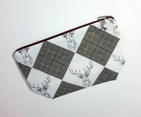 Knitting Notions Pouch Crochet Notions Pouch Stag Fabric