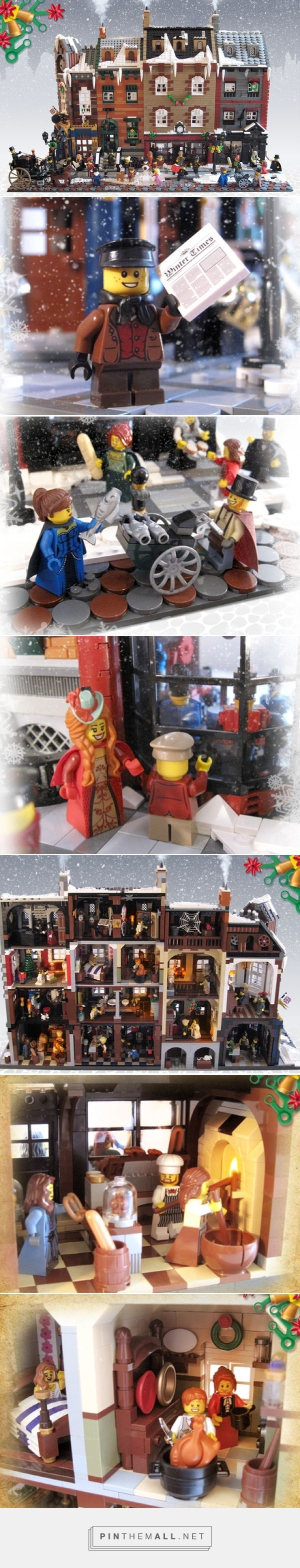 LEGO Ideas -      Victorian London Christmas - created via http://pinthemall.net