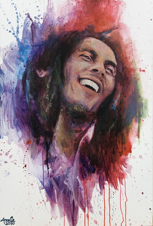 17 best images about caricatures of rock music on for Bob marley mural