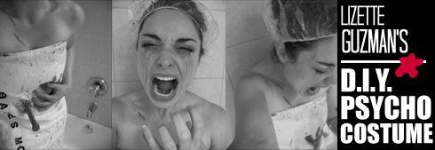 creativitylizette: DIY Psycho Shower Scene Costume