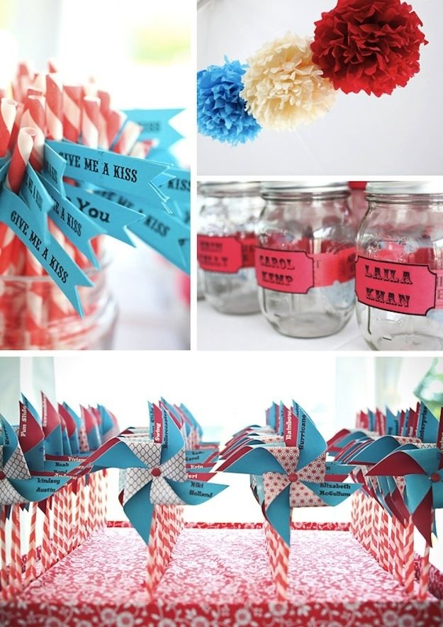 40 Personal DIY Details From Real Weddings Carnival-themed decorations and escort cards, handmade by one of the brides.