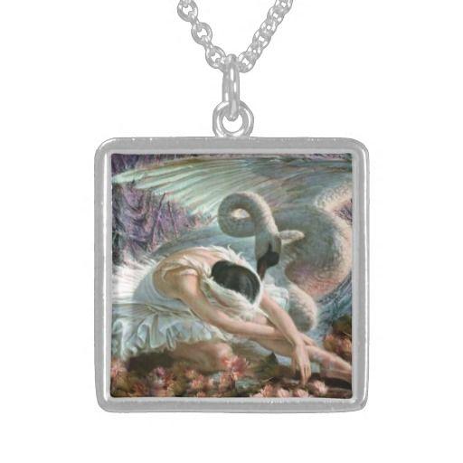 Ballet Swan Lake  sterling silver, sterling plate Custom Necklace
