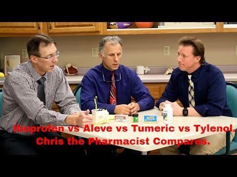 Ibuprofen vs Aleve vs Tumeric vs Tylenol. Pharmacist Chris Compares. - YouTube