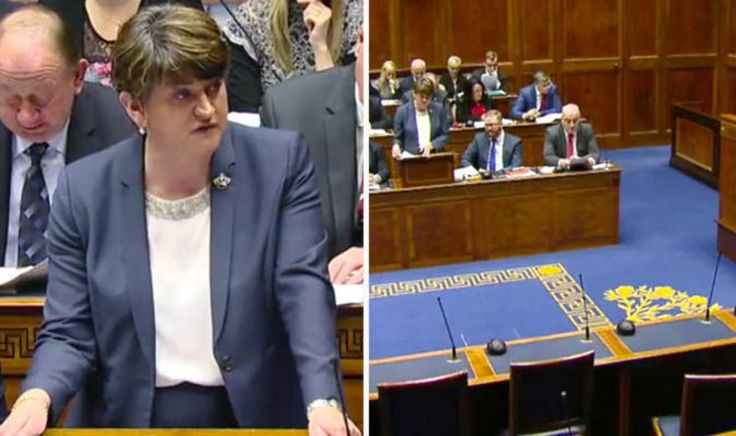 Walkout in Northern Ireland Assembly as First Minister Arlene Foster faces confidence vote - Express.co.uk