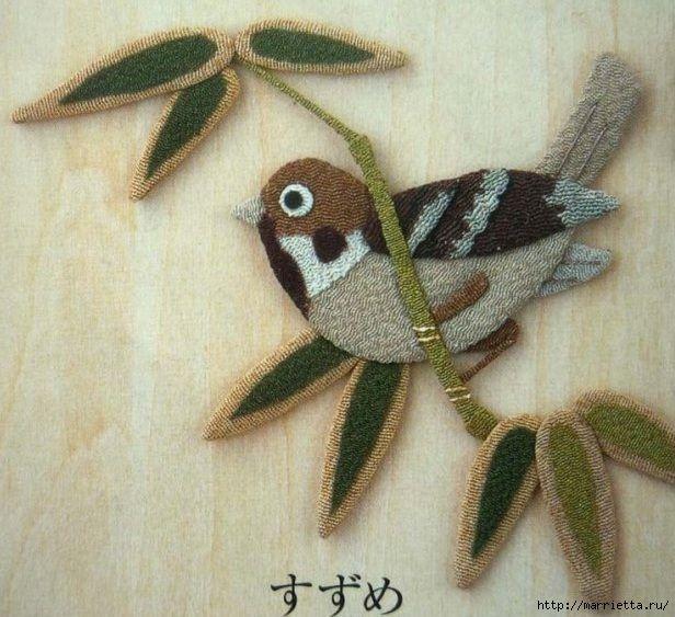 Аппликация. Птицы. Идеи для вдохновения (6) (616x563, 225Kb)