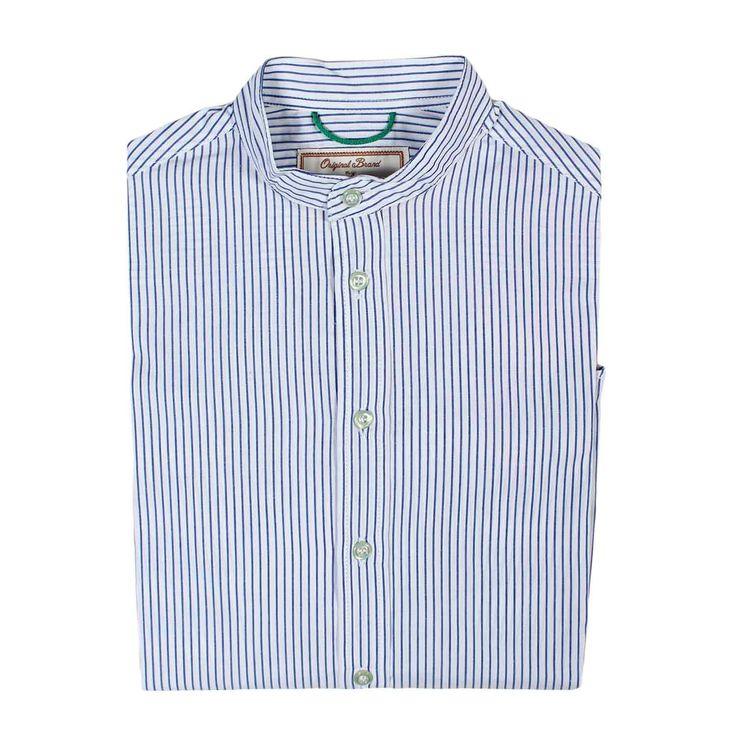 Myths - Camicia Coreana Junior A Righe - Camicia bianca e blu a righe in stile coreano firmata Myths Junior della nuova Collezione Primavera Estate 2017 - Linea di abbigliamento Bambino e Teenager. #shoponline #annameglio