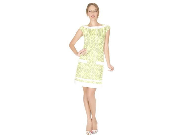 Vestido recto Ralph Laurent verde