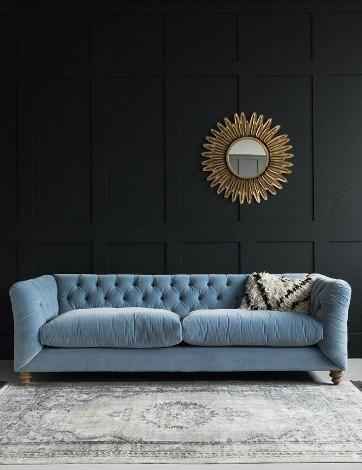 Great Hugo Chesterfield Sofa   Three Sizes Available In Velvet, Linen Or Brushed  Cotton