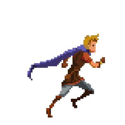Hero running cycle - pixel by Genbaku