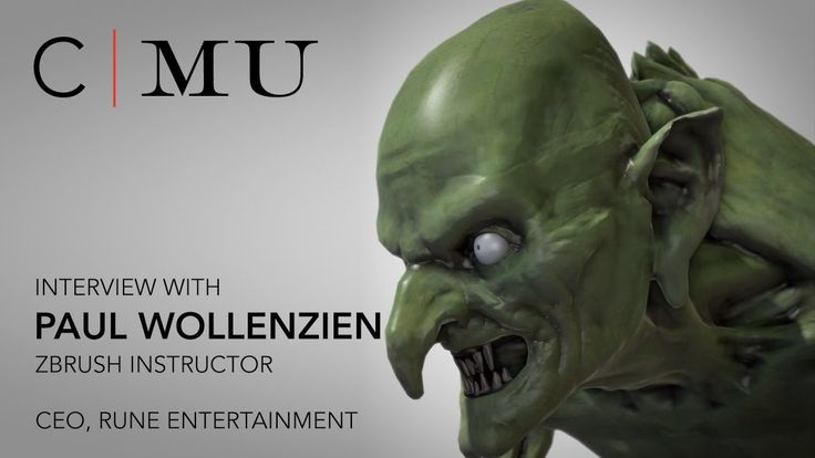 CMU ZBrush instructor, Paul Wollenzien (Rune Entertainment), shares his expertise in ZBrush and digital sculpting with students in the Creature & Character Design program as well as insight into the Digital Effects industry.