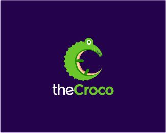 "The Croco Logo design - - Text can be customize, just click ""customize"" and send…"