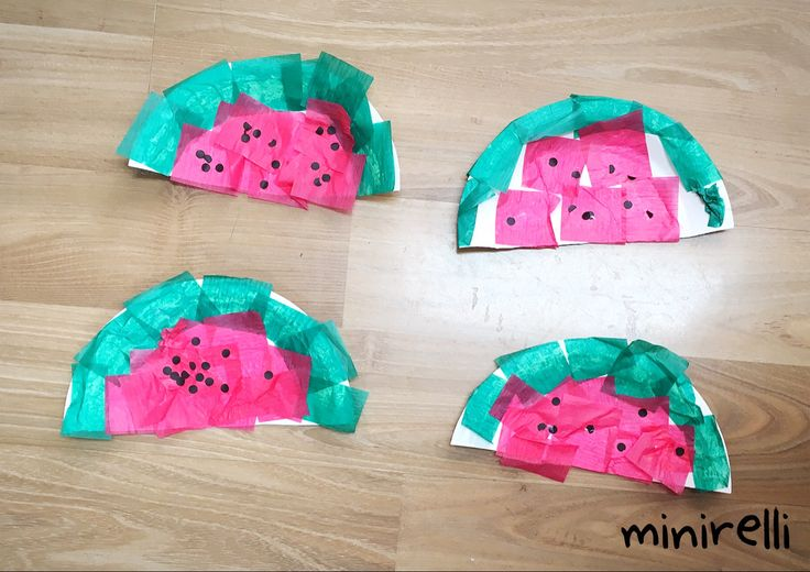 We've made a melon post before but these ones are slightly different but just as exciting and interesting! You may need: Paper plates Red tissue Green tissue Back paper Hole punch Glue sticks…