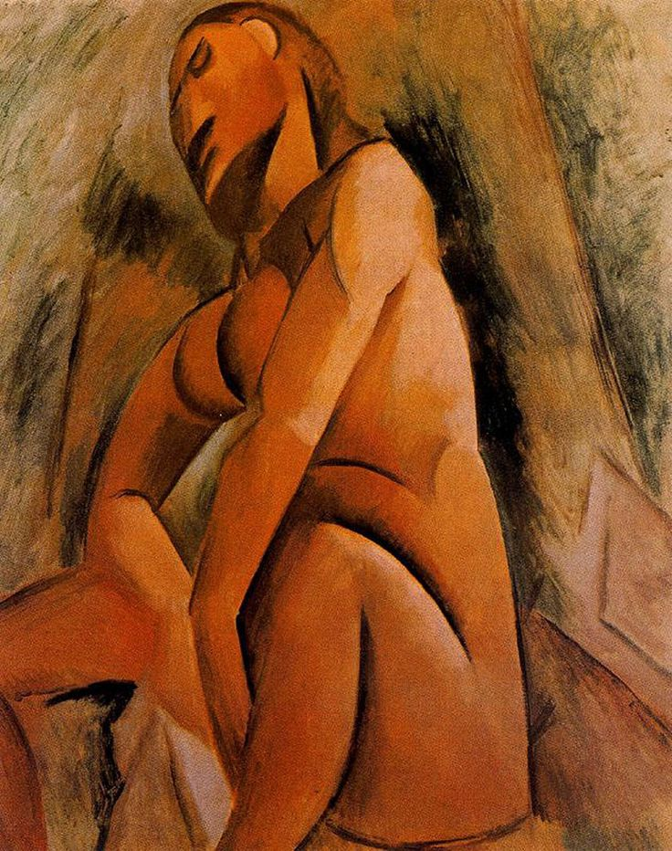 Seated nude - Pablo Picasso 1908