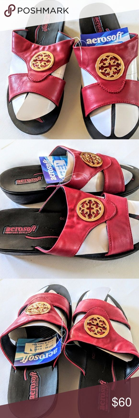 Womens Slip On Sandal Wine Colored Taboo Size 8 Finish your warm-weather ensemble with these slip-on-and-go sandals featuring a gleaming accent and neutral hue. aerosoft Shoes Sandals