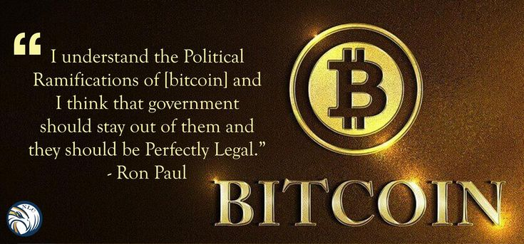 I understand the #political ramifications of [#bitcoin ] and I think that #Government should stay out of them and they should be perfectly #Legal .