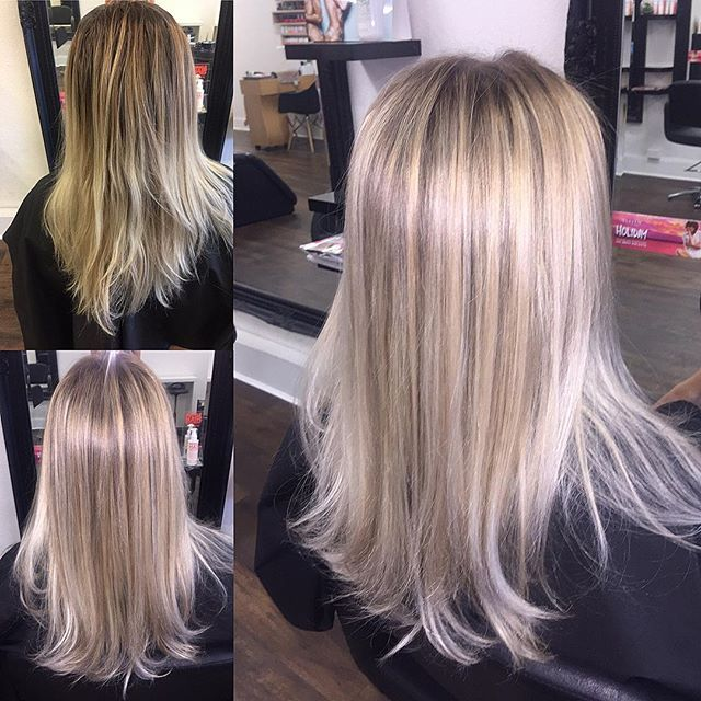 Top 100 medium blonde hair photos Creamy blonde balayage on Courtney. Done by Serena