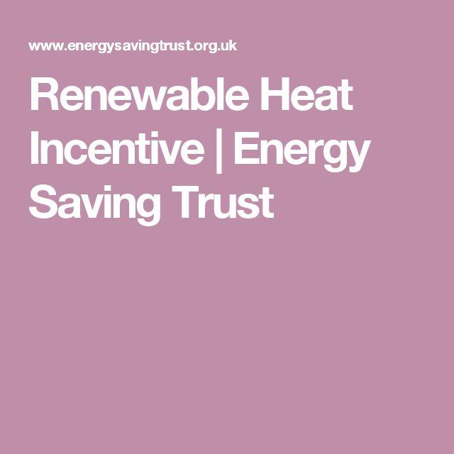 Renewable Heat Incentive | Energy Saving Trust