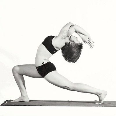 eagle arm back bend in crescent lunge  yoga  pinterest
