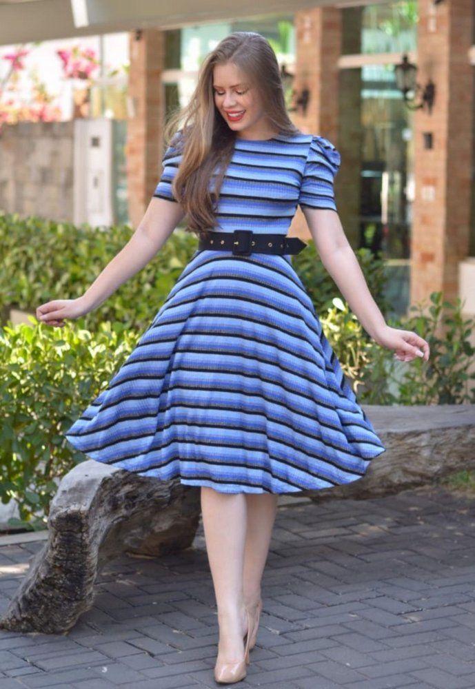 Vestido Midi de Lurex Azul Canelado in 2020 | Fashion, Style, Vintage