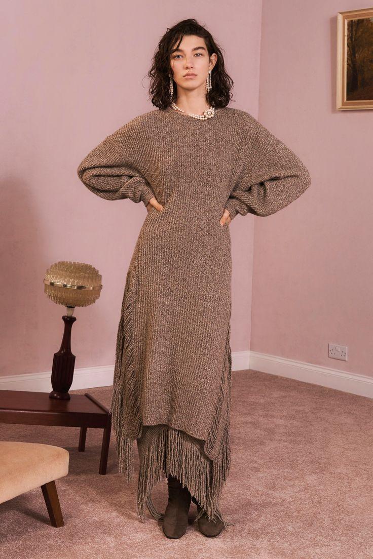 Stella McCartney | Pre-Fall 2017 | Look 18 rib dress with fringe
