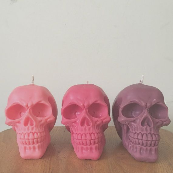 Skull Candles Large by DropDeadCandles on Etsy