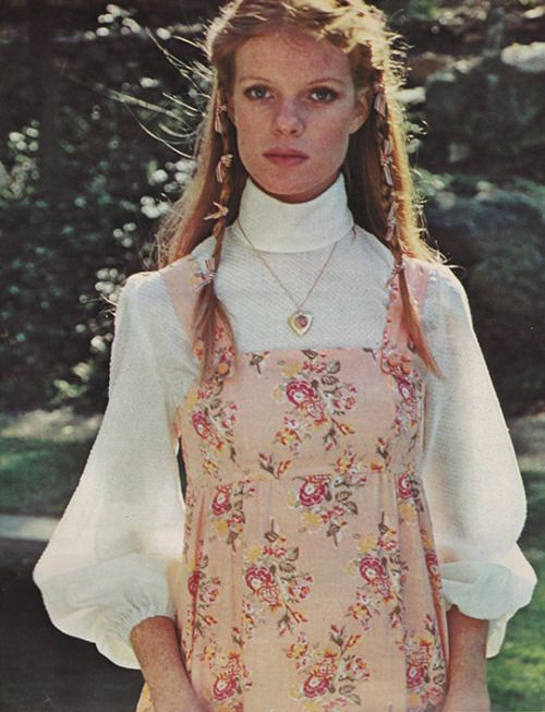 January 1973. 'Soft lines, feminine patterns – that's what gentle dressing is…
