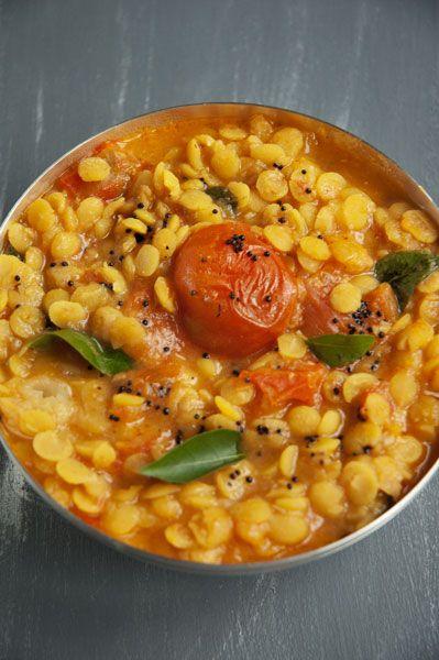 Curry de Lentilles aux Tomates et à la Noix de Coco