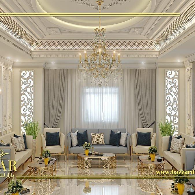 تصميم داخلي مصمم ديكور On Instagram مجلس رجال نيو كلاسيك تم استخدام البانوهات وكرانيش السقف ال Living Room Decor Colors Living Room Designs Interior Design