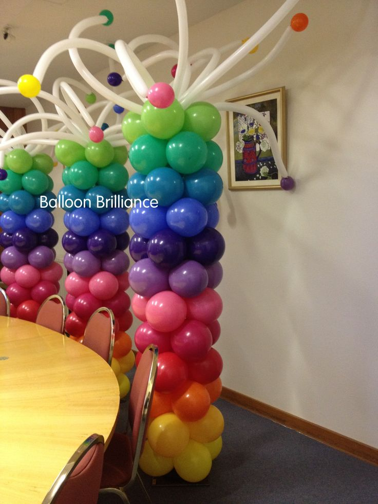 731 best balloon columns pillars decoration images on for Balloon column decoration
