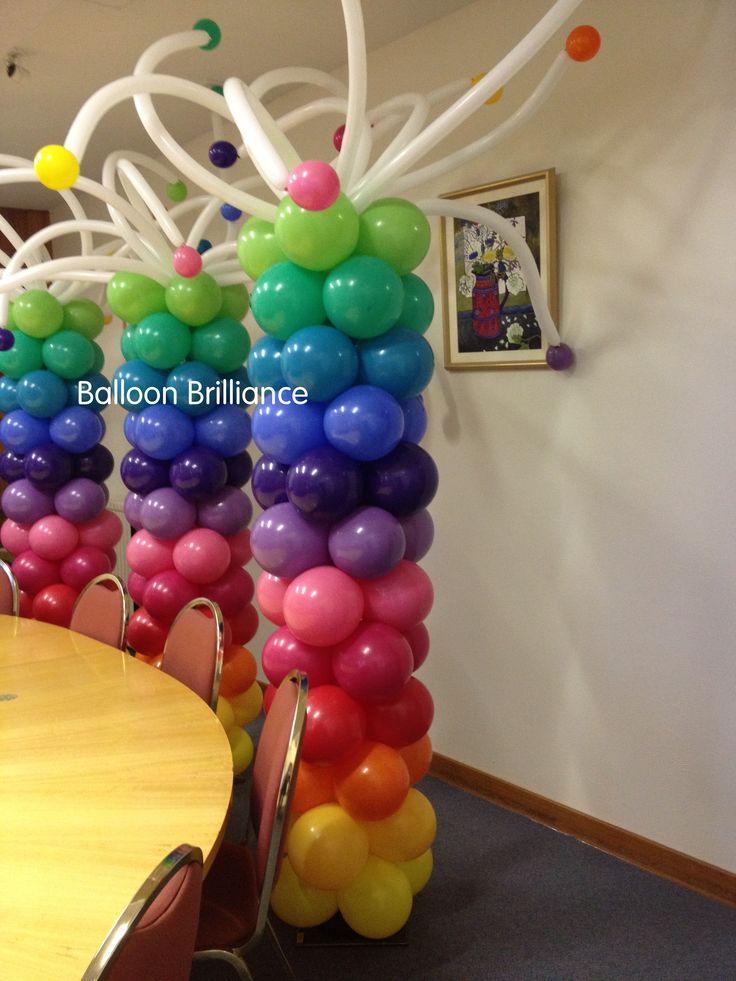 rainbow balloon column canberra BalloonBrilliance 99 best
