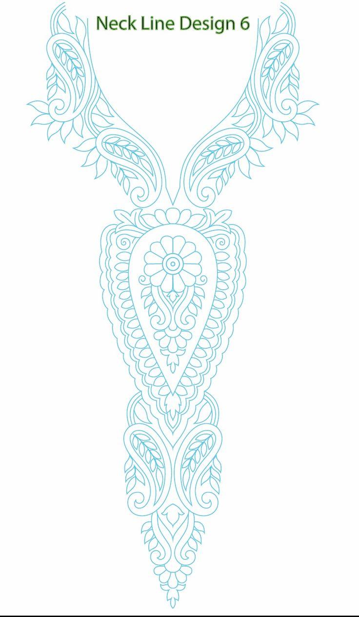 Neck Line Embroidery Design