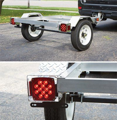 FREE SHIPPING — Ultra-Tow 40in. x 48in. Aluminum Utility Trailer Kit — 1060-Lb. Load Capacity