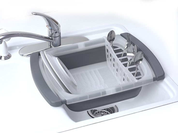 Conserve Counter And Cupboard Space With This Clever Dish Drainer. When The  Plates Are Dry And Clean, Just Collapse The Drainer For Completely Compact  ...