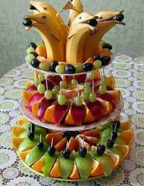 Как оформить фруктовый стол - фруктовая тарелка и фруктовая нарезка фото идеи. Красивая фруктовая нарезка фруктов фото, фруктовый карвинг из фруктов фото идеи.