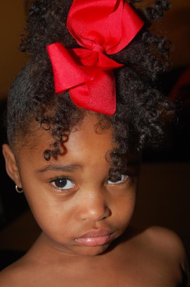 .Cute partial up do #kids #natural #hair