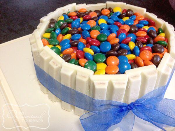 Kit Kat M Amp M Birthday Cake Birthday Cake Cake Recipes Cake