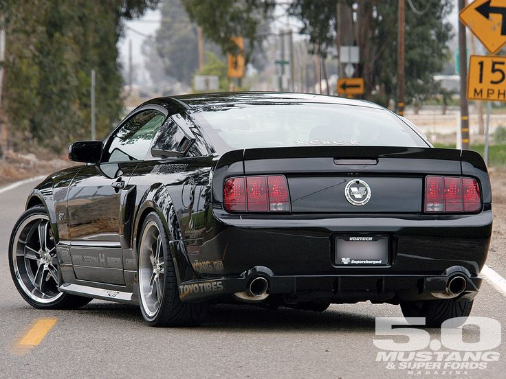 2006 Mustang Gt Vortech Rearend Black Taillights - There's nothing not to like…