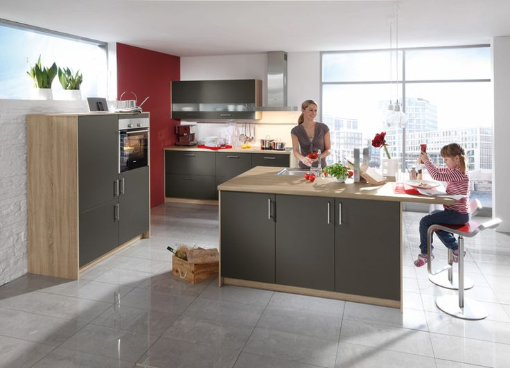LISA GRAPHITE - De natuur in uw keuken, aardetinten in combinatie met hout. 2 zijden met melamine dikte 19mm, dikkant op 4 kanten | Meubelen Crack