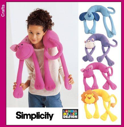 Simplicity 5310 Animal Neck Pillow Pattern