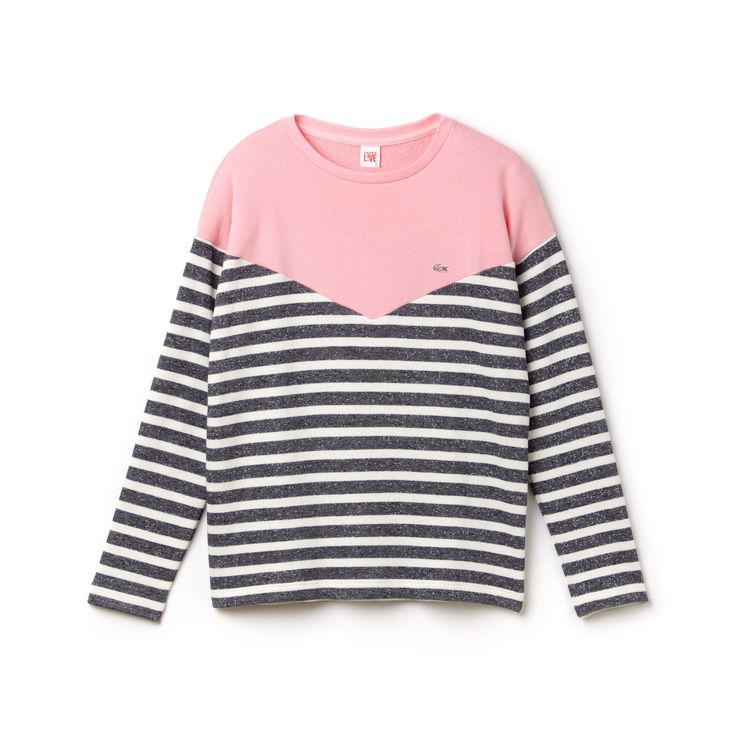 Camiseta gola careca Lacoste LIVE de lã listrada | LACOSTE