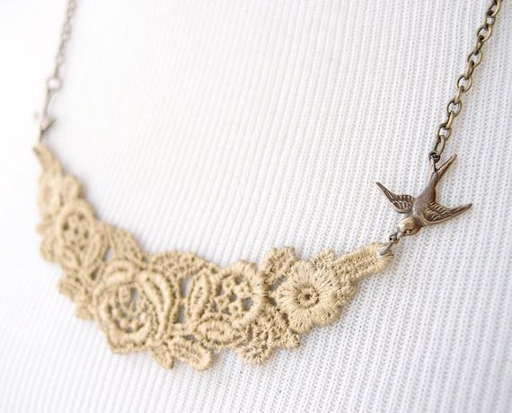 Hey, I found this really awesome Etsy listing at https://www.etsy.com/listing/71903009/gold-lace-necklace-laurelin-lace-jewelry