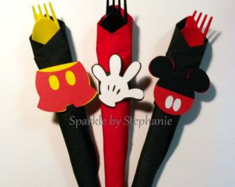 Mickey Mouse Napkin Rings l Mickey Head Mickey Pants Mickey Glove l Mickey Baby Shower l Mickey Mouse Party l Mickey Decorations l Set of 12